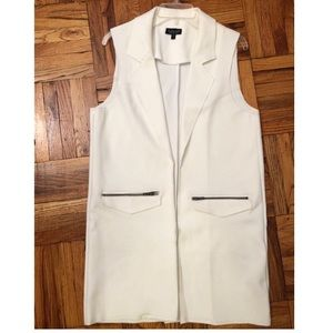 TopShop long white vest